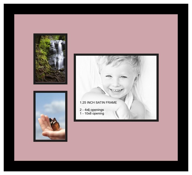 Arttoframes collage photo frame with 1 8x10 and 2 4x6 for Modern collage frame