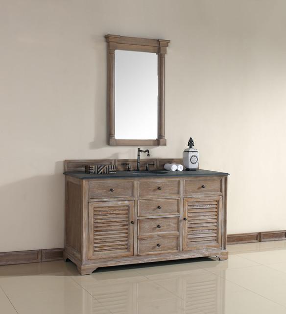 60 Inch Savannah Driftwood Grey Single Sink Vanity Beach