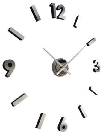 self design modern contemporary abstract wall clock numbers contemporary wall clocks