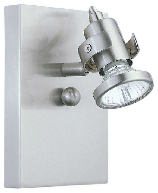 Wall Sconce Lamp Kit : One Light Nickel Track Kit - Contemporary - Wall Sconces - by We Got Lites