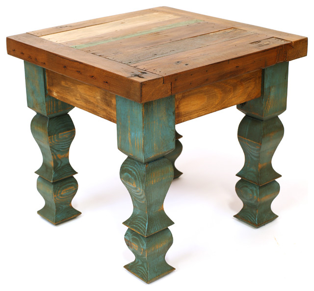 Rustic Side Table : ... Door End Table, Brown and Turquoise rustic-side-tables-and-end-tables