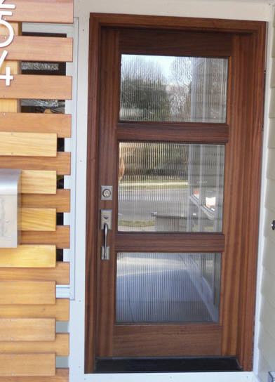 Wood and glass entry door modern front doors other for External door with window
