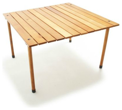 Portable wood table in a bag contemporary outdoor dining tables by sur la table - Low portable picnic table in a bag ...