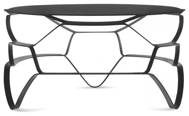 Table basse en acier design loll lounge couleur noir - Table basse design noire ...