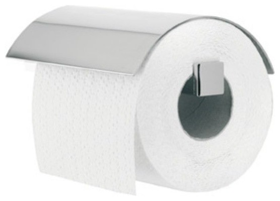 Toilet Paper Holder With Cover Brushed Stainless
