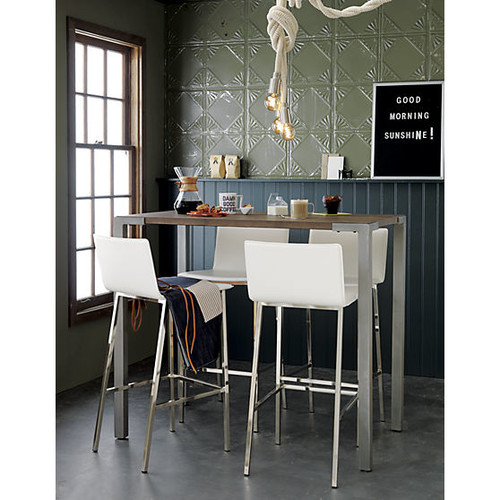 Wood Pub Bistro Small Bar Chairs Table Kitchen Nook: What Bar Stools Would Work With This High Bar Table?