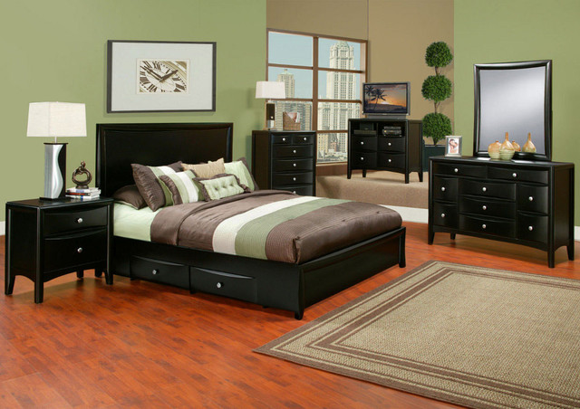 laguna 6 pc cal king storage bedroom set contemporary beds by