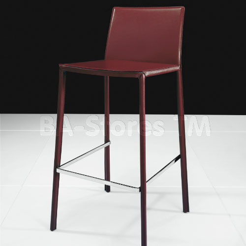 Sanctuary Red Leather Barstool