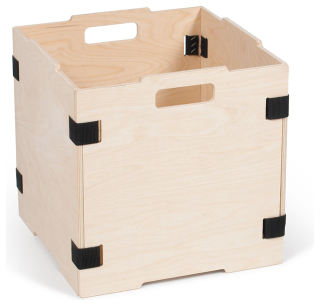Stackable Wood Cube Storage Box, Without Lid - Modern - Storage Bins And Boxes - by Sprout ...