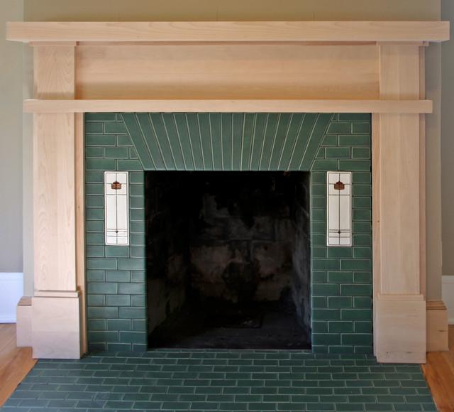 Prairie style fireplace craftsman minneapolis di for Prairie style fireplace
