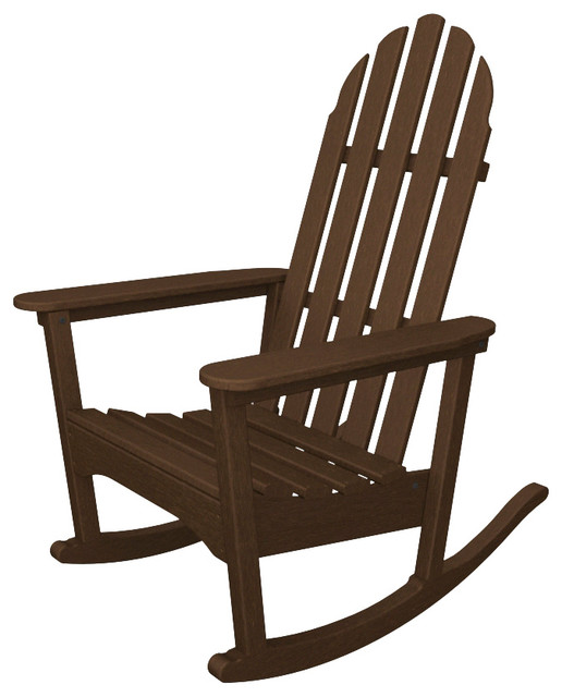 classic adirondack rocker mahogany all weather outdoor recycled plastic furnitur. Black Bedroom Furniture Sets. Home Design Ideas