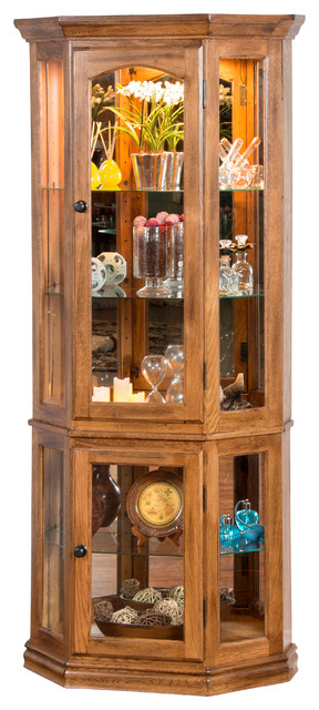 Sedona 5-Side Curio Cabinet - Traditional - China Cabinets And Hutches - by Sunny Designs, Inc.