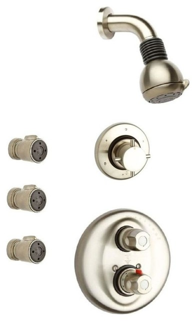 Water Harmony Shower Combination 4 In Brushed Nickel Contemporary Bathtub And