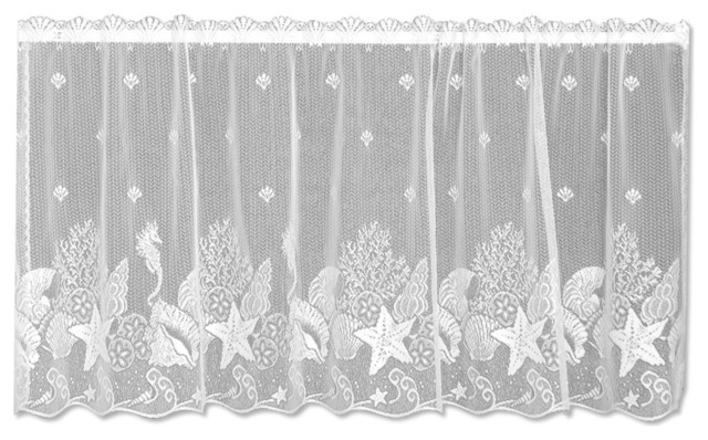 Seascape Tier Beach Style Shower Curtains By