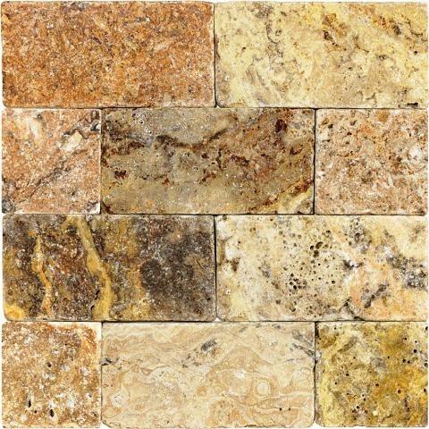tuscany scabas tumbled tile 50 sq ft of 3x6 m diterran en carrelage sol et mur par wall. Black Bedroom Furniture Sets. Home Design Ideas
