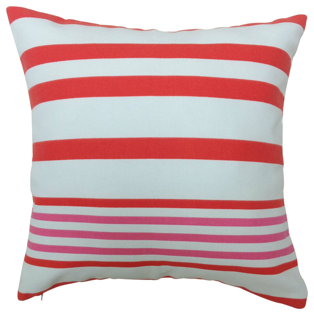 Grenadine Stripe Outdoor Cushion - Beach Style - Outdoor Cushions And Pillows - other metro - by ...