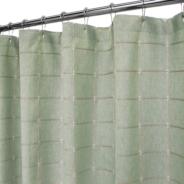 Durham Square Shower Curtain 72 Quot X72 Quot Dark Sage Shower