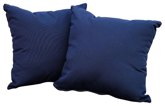 """Samara 17"""" Outdoor Accent Pillow Set of 2 Navy Blue"""