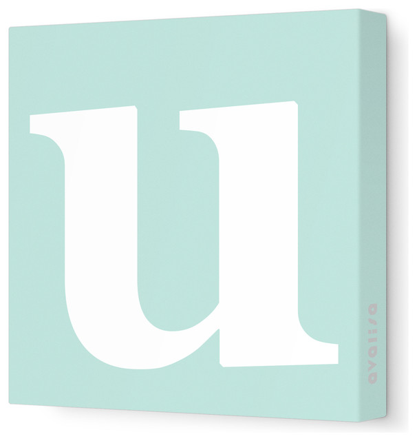 Lowercase Letters Wall Decor : Letter lower case u stretched wall art quot sea