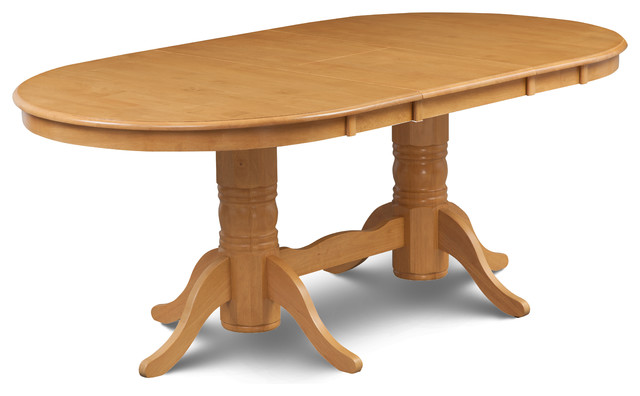 Somerville dining table 42 78 with 18 leaf oak finish for 42 dining table with leaf