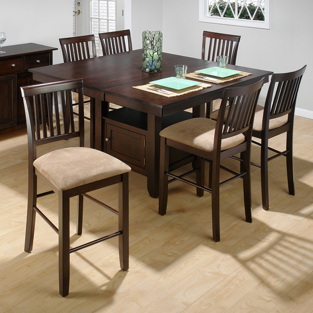 piece butterfly leaf counter height set contemporary dining sets