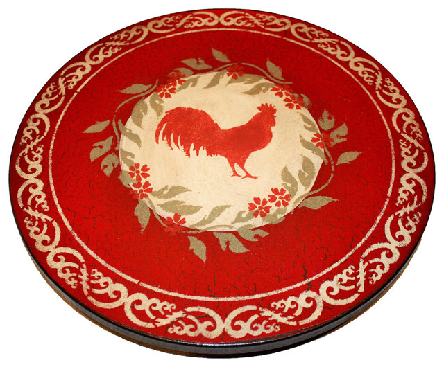 """Rooster Lazy Susan, 18"""" - Rustic - Serving Trays - by Lazy Susans by Joann"""