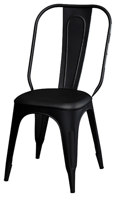 Industrial Tolix Black Dining Chair Industrial Dining Chairs By Horizon