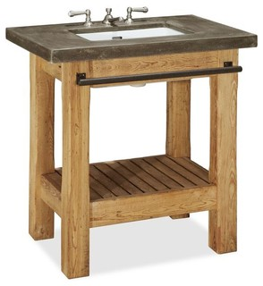 Abbott single sink console rustic bathroom vanities and sink consoles sacramento by for Single sink consoles bathroom