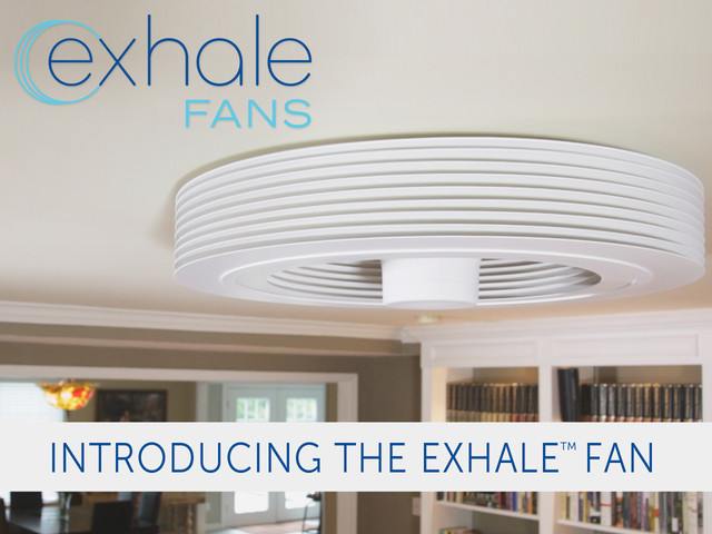 Exhale fans first truly bladeless ceiling fan ceiling Exhale fan review