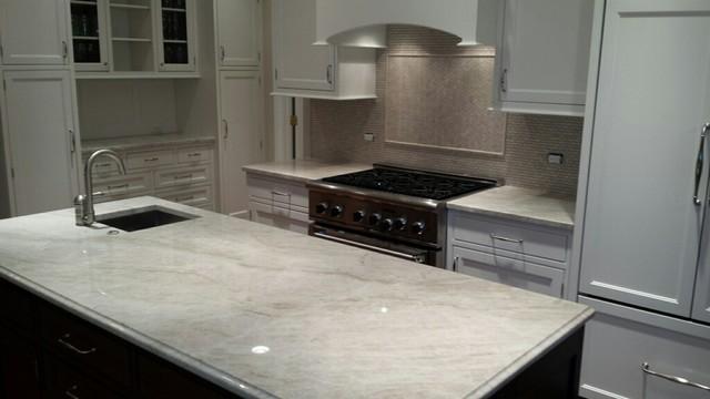 white pearl quartzite kitchen modern kitchen