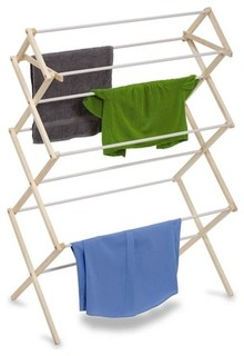 Large Wood Knockdown Drying Rack- 29 Linear Feet - Contemporary - Drying Racks - by Honey-Can-Do ...