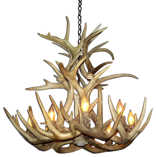 Lowes Antler Chandelier: Whitetail Cascade Naturally Shed Antler Chandelier, XL, No