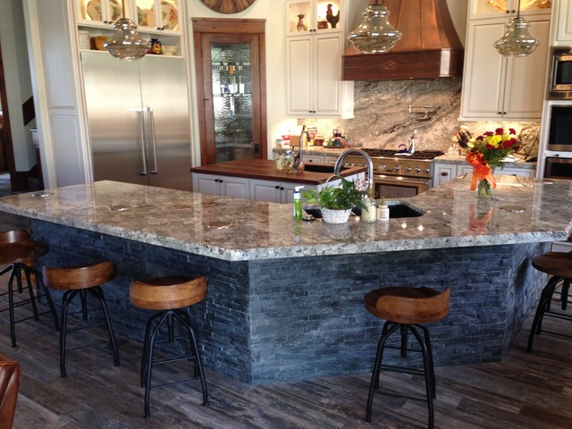 granite kitchen rustic kitchen countertops by
