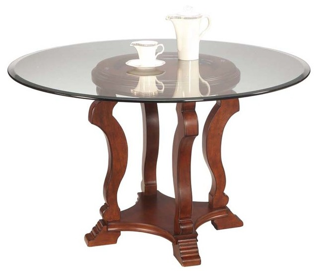 Mirror Remson Round Glass Dining Table Contemporary Dining Tables