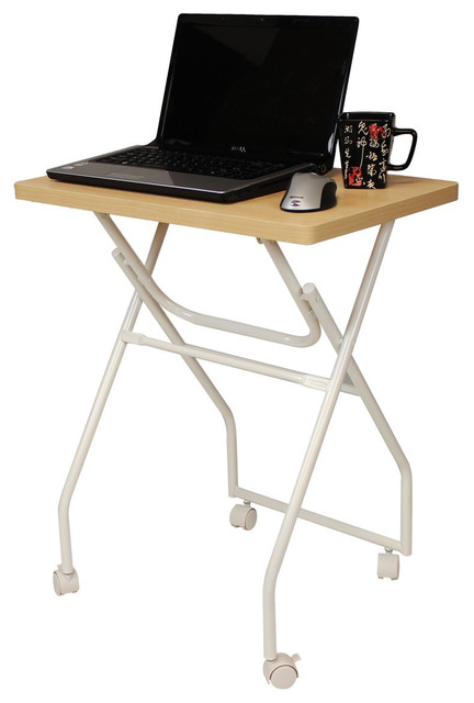 Folding Tv Tray Table Laptop Computer Stand With Locking