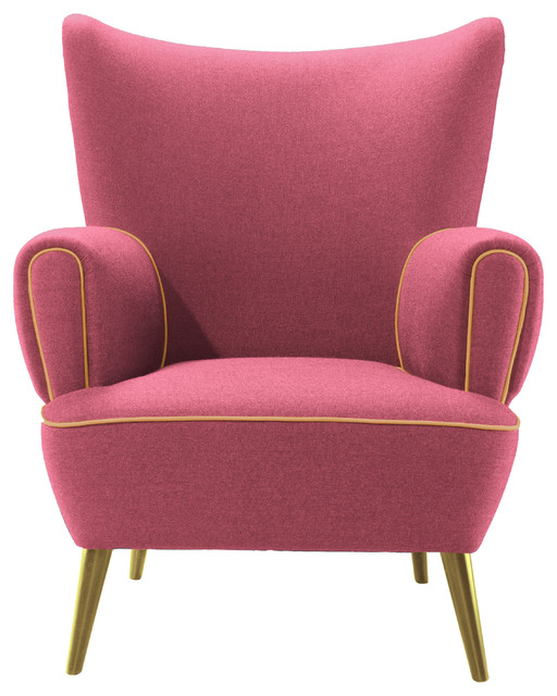 Garland Pink And Golden Accents Armchair Contemporary