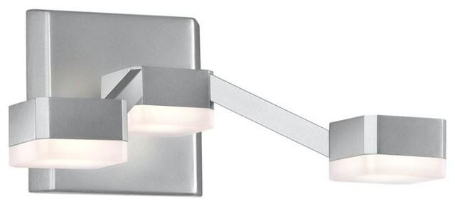 Sonneman Lighting 2320.16W Lattice 3-Light LED Sconce In Bright Satin Aluminum - Contemporary ...
