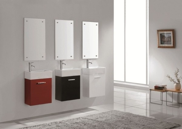 Very small bathroom vanities images for Small modern bathroom vanity
