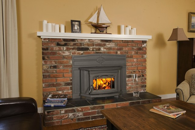 Pacific energy alderlea t5 series 24 39 39 x 21 39 39 wood burning for Modern wood burning insert
