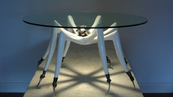 White Tarantula Coffee Table Eclectic Tables
