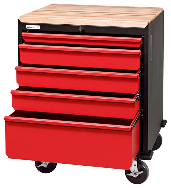 Modular Base Cabinet w Five Drawers - Contemporary - Garage And Tool Storage