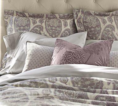 Ashlyn Paisley Organic Cotton Duvet Cover Twin Lilac