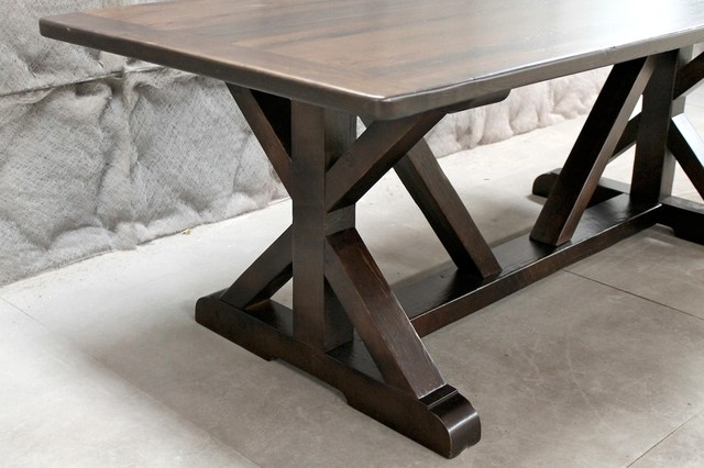 7ft Restoration Hardware Inspired Trestle Table Modern