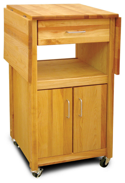 catskill double drop leaf cabinet cart with open shelf white kitchen trolley with lacquered hardwood top