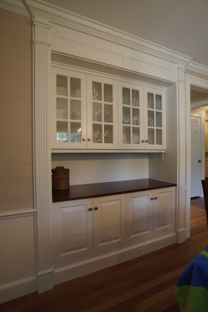 Classic Dining Room Hutch - Traditional - Boston - by Rogers Cabinets