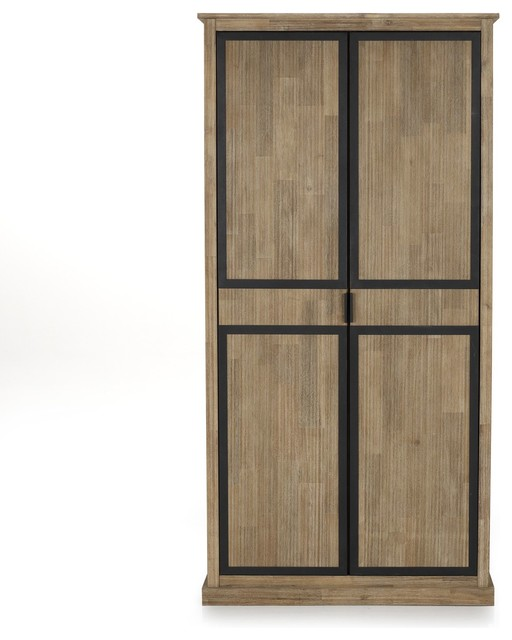 cocto armoire 2 portes style industriel contemporain. Black Bedroom Furniture Sets. Home Design Ideas
