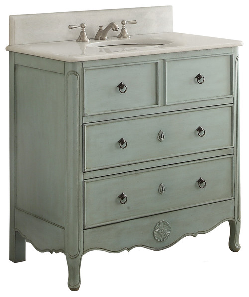 "34"" Cottage Look Daleville Bathroom Sink Vanity Without Mirror · More Info"