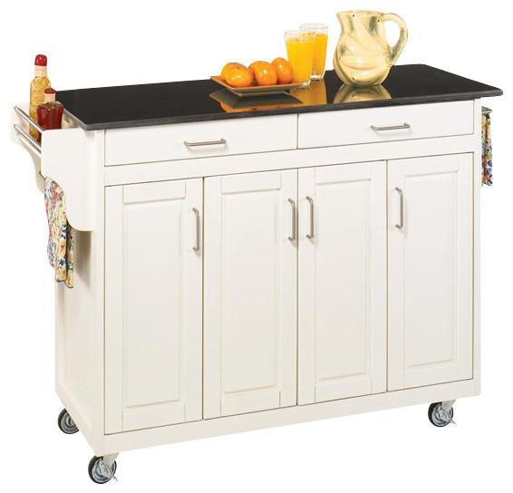 kitchen island cart with granite top, Kitchen