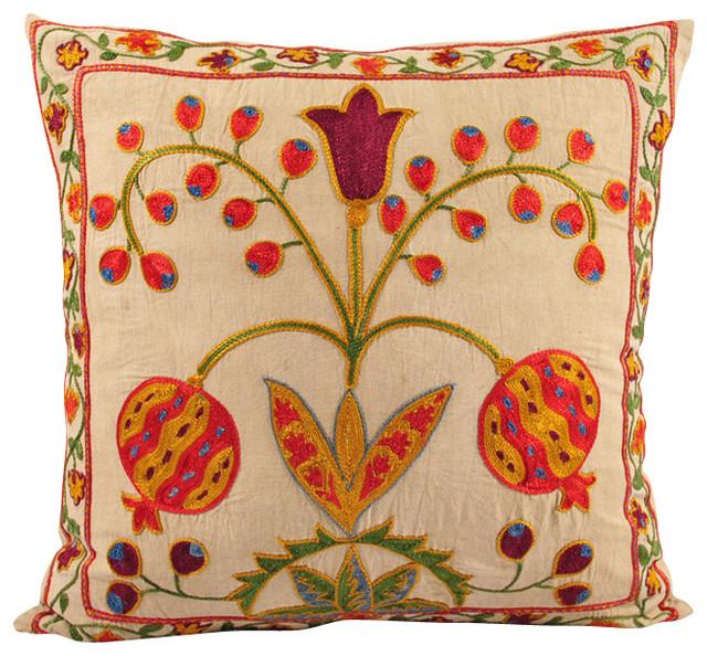 Modern Throw Pillow Ideas : Handmade Suzani Pillow Cover - Modern - Decorative Pillows - by Black Fig Designs