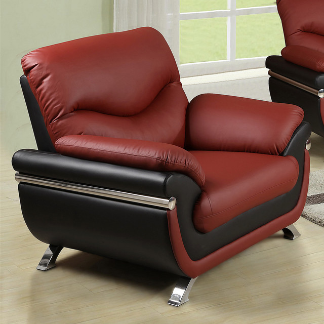 modern black red faux leather chair contemporary living room chairs